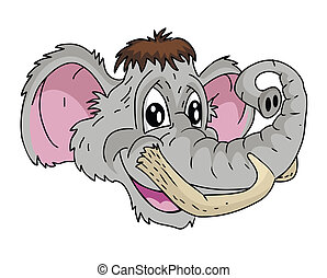 Mammoth head Cartoon