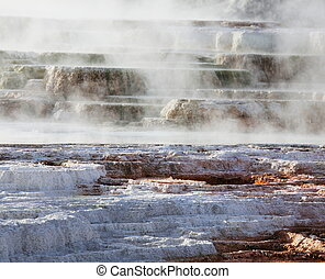 Mammoth hot spring