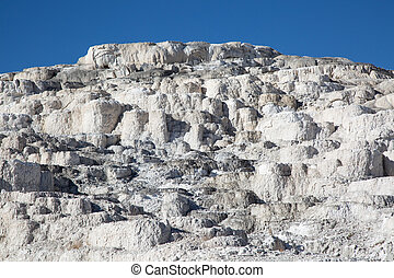 Mammoth hot springs in the Yellowstone National Park, ...