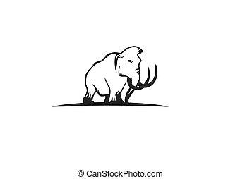 Mammoth Vector Illustration