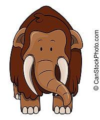 mamoeth, cartone animato, illustrazione