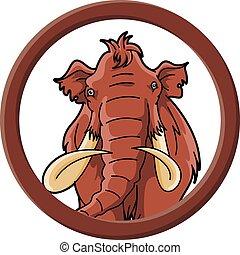 mamoth, círculo, bandeira