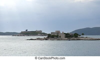 Mamula Island, a former concentration camp in Montenegro, the Ad