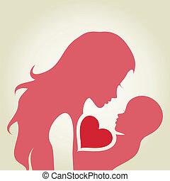 mamusia, niemowlę