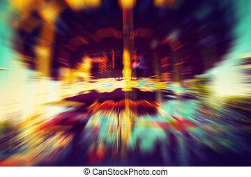 manège, vendange, mouvement, carrousel