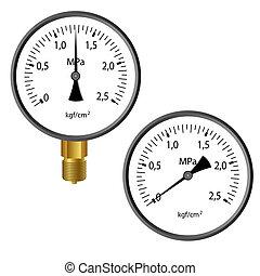 manómetro, gas