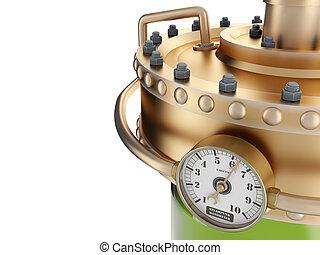 manómetro, refinería, estación