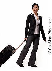 manželka, cestující