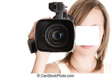 manželka, videokamera