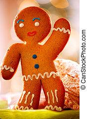 man., クリスマス, gingerbread, ホリデー