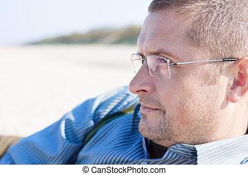 man 40 years portrait
