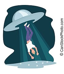 Man abducted by aliens, ufo flying saucer kidnapping - ...