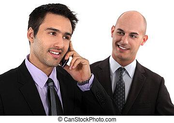 Man admiring his business partner