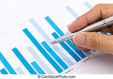 Man Analysis Business and financial report.