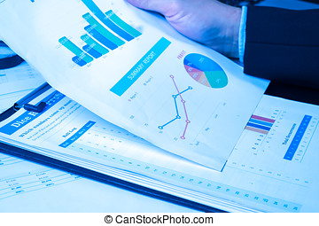 Man Analysis Business and financial