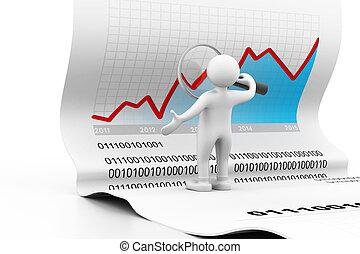 Man analyzing the business chart