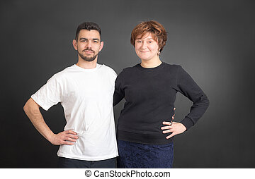man and a woman