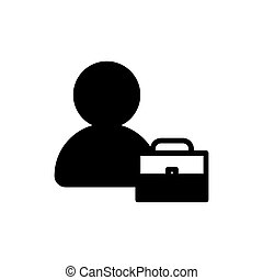 man and brief case flat icon vector illustration