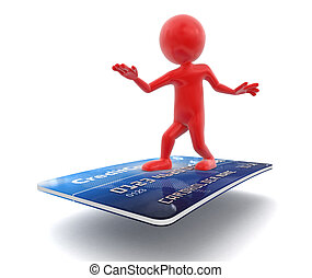 Man and Credit Card
