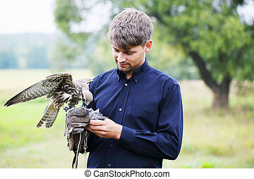 man and falcon