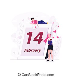 Man and girl Valentines day event