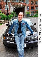 Man and his car