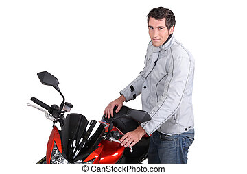 Man and his motorcycle