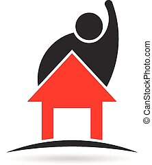 Man and House property logo