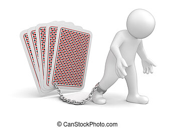 Man and Playing Cards