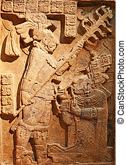 Man and save - Man and slave relief (pre-columbian american...