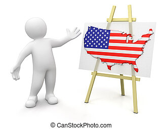 Us Map Clipart And Stock Illustrations Us Map Vector EPS - Man in the us map