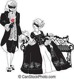 Man and woman at the carnival
