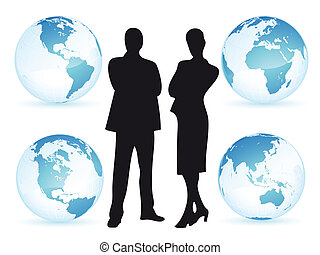 Man and woman business in the world