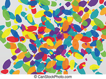 Man and woman colorful shoe footprints illustration...