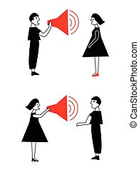 Man and woman conflict and communication