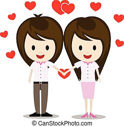 man and woman couple vector