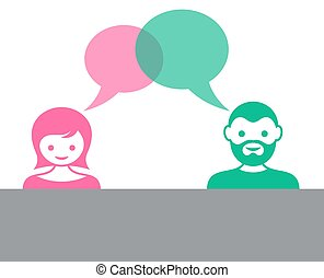 Man and woman dialog
