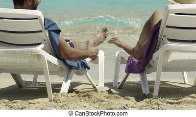 man and woman doing honeymoon