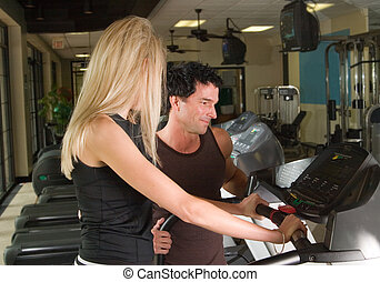 Man And Woman Exercising 2