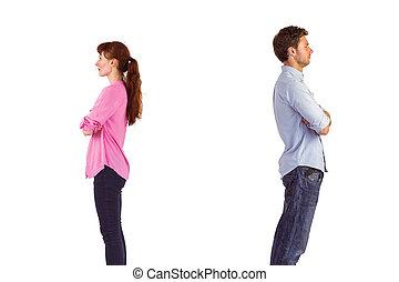 Man and woman facing away