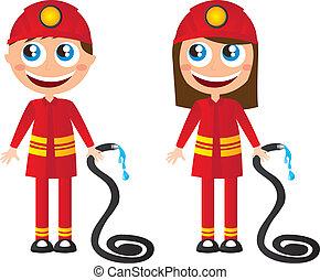 firefighters cartoons