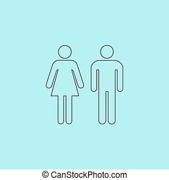 man and woman icons, toilet sign, restroom icon