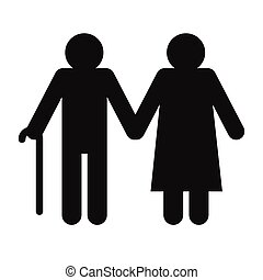 Man and woman in old age