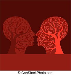 Man and woman kissing silhouette