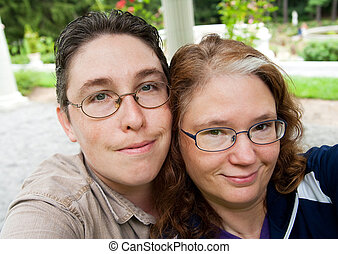 man and woman self portrait