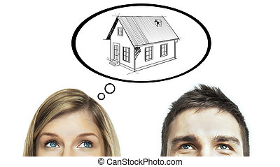 think about home - man and woman think about home