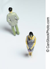Man and woman turn back - Miniature Man and woman turning...