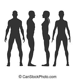 female head blank mannequin front view vector eps 10