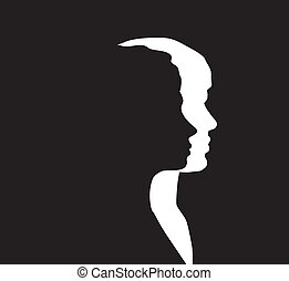 Man and woman - Vector man and woman silhouette
