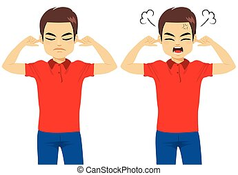 Man Angry Face Gesture